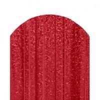 Металлический штакетник Трапеция усиленный, кварц, односторонний