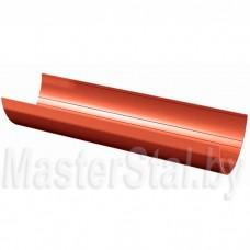 Желоб водосточный, красный (ПВХ), 3 м