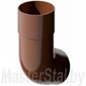 Колено трубы коричневое 135° (ПВХ)
