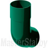 Колено трубы зеленое 135° (ПВХ)