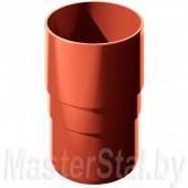 Муфта трубы, красная (ПВХ)