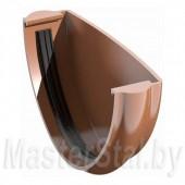 Заглушка желоба водосточного, коричневая (ПВХ)