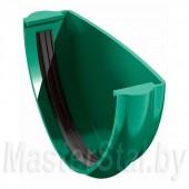 Заглушка желоба водосточного, зеленая (ПВХ)