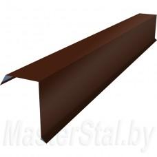 Торцевая (ветровая) планка цветная 80х110 мм