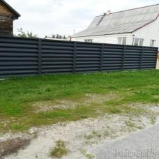 Забор жалюзи металлический