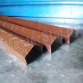 Декоративная планка для кирпичного забора цветная (парапет на забор)