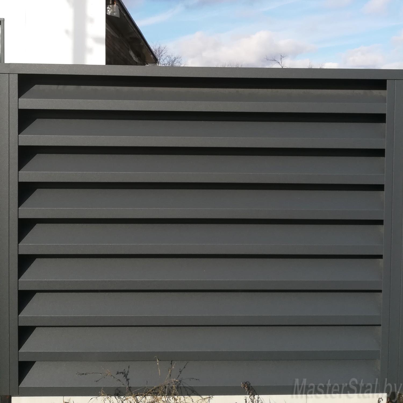 Металлический забор жалюзи Макси-180 одна секция