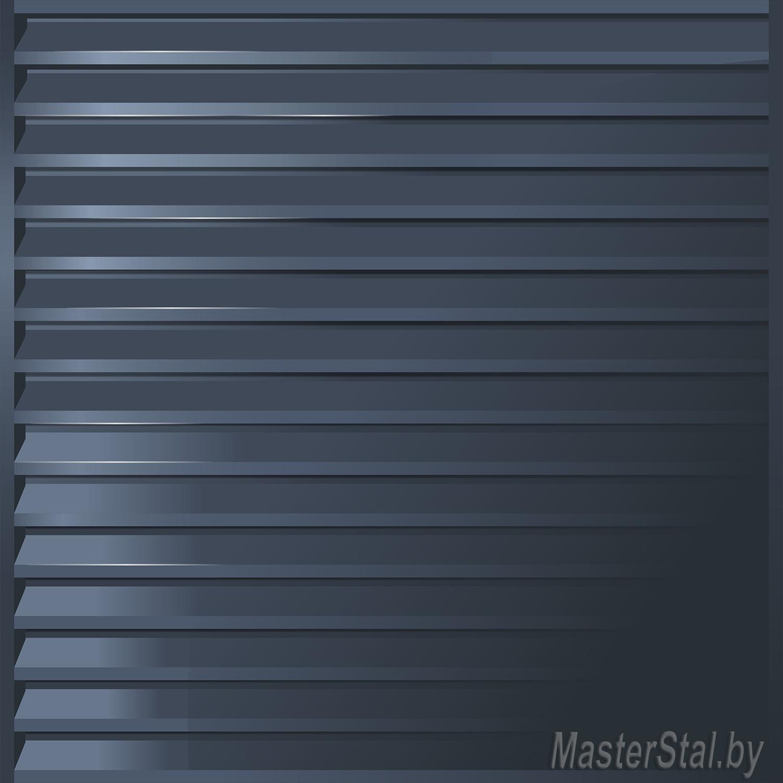 Забор жалюзи металлический Мини-100