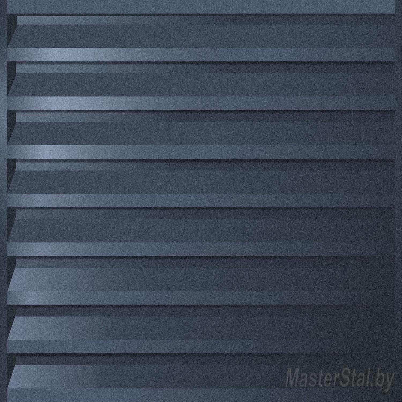Забор жалюзи металлический матовый Макси-180