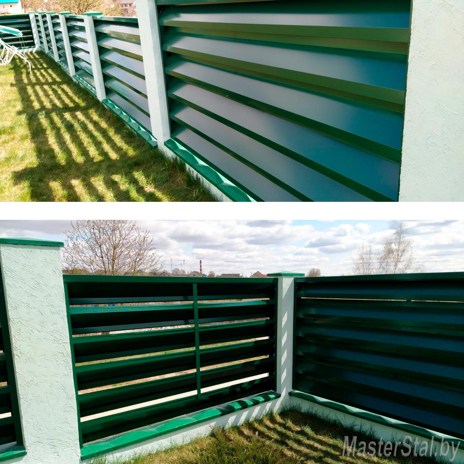 Забор жалюзи с двухсторонним покрытием Макси-250