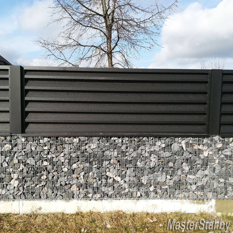 Забор жалюзи Стандарт-130 одна секция