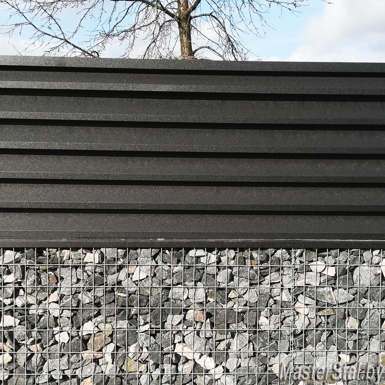 Металлический забор жалюзи одна секция