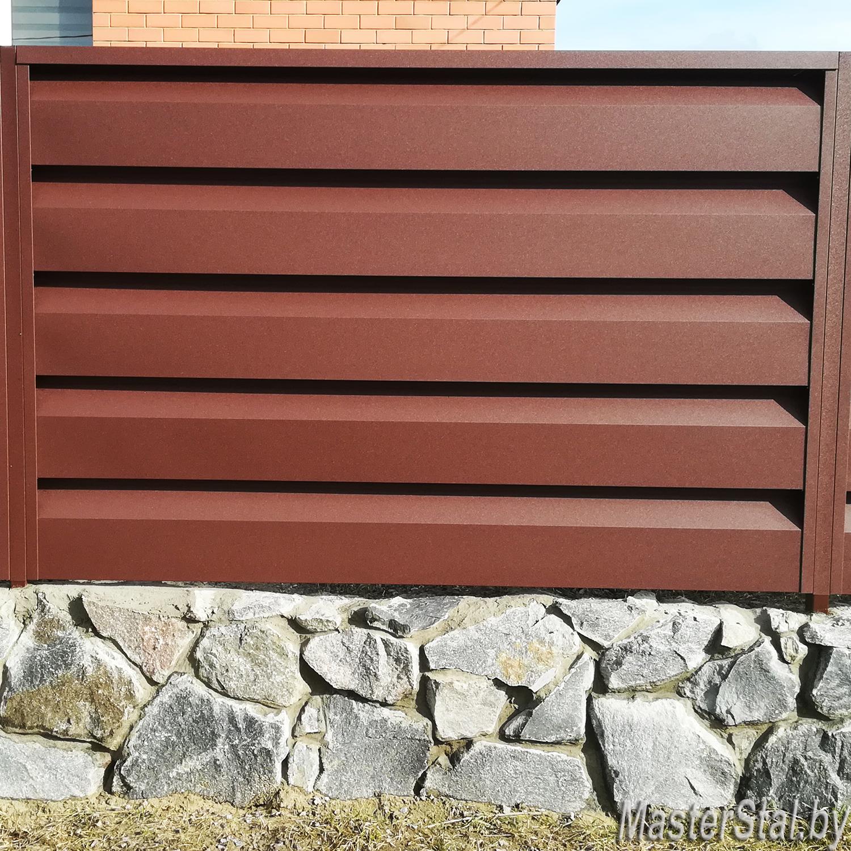 Металлический забор жалюзи Стандарт-260 одна секция