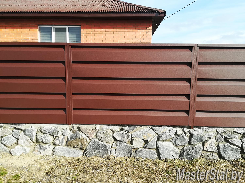 Забор жалюзи металлический Стандарт-260